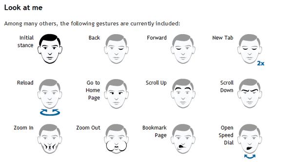 Opera's new facial gestures