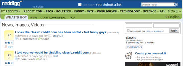 Reddit's new layout